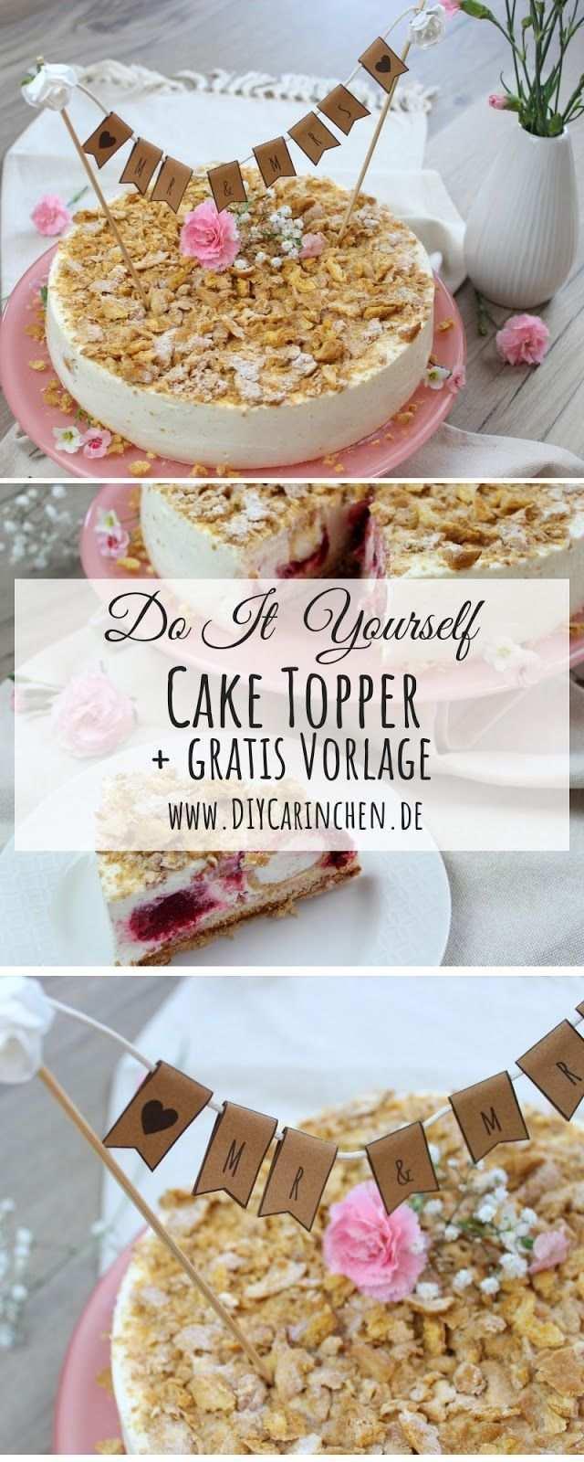 Diy 3 Cake Topper Fur Die Hochzeitstorte Ganz Einfach Selber Machen Gunstige Hochzeitstorte Hochzeitstorte Selber Machen Hochzeitstorte