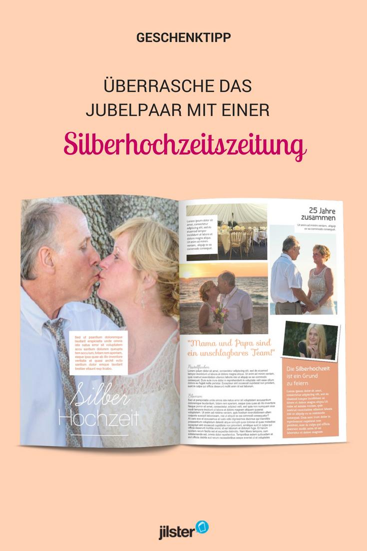 Silberhochzeitszeitung Gestalten Jilster Hochzeitszeitung Silberhochzeit Silberhochzeit Geschenkideen Silberhochzeit Silberhochzeit Geschenk
