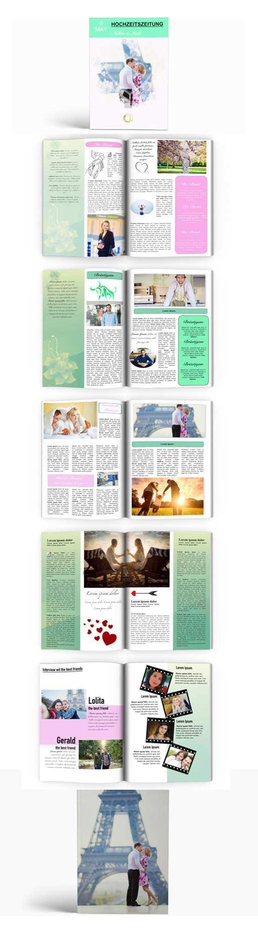 Hochzeitszeitung Vorlage Hochzeitszeitung Hochzeitszeitung Ideen Hochzeit