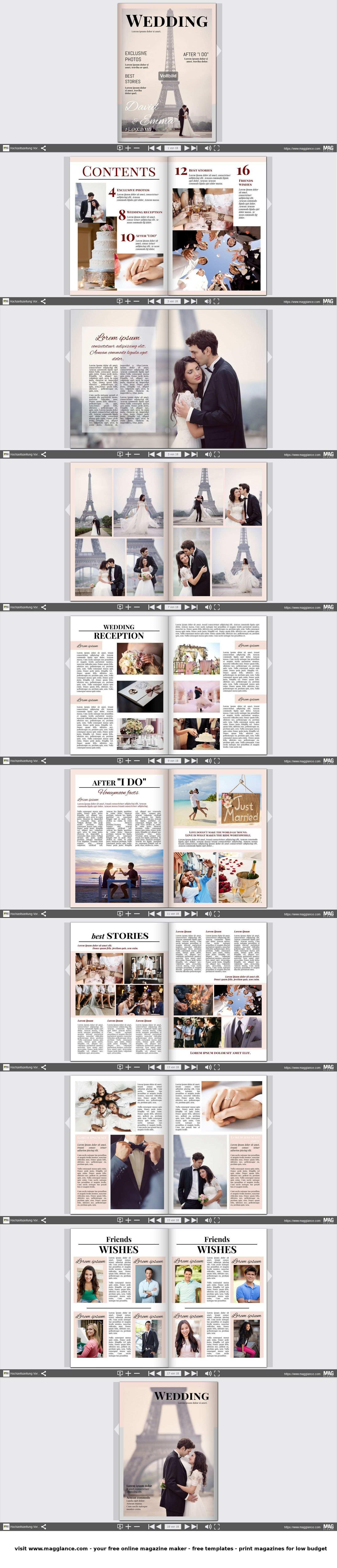 Hochzeitszeitung Kostenlos Online Erstellen Und Gunstig Drucken Unter De Magglance Com Zeitung Mag Hochzeitszeitung Hochzeitszeitung Ideen Hochzeit Broschure