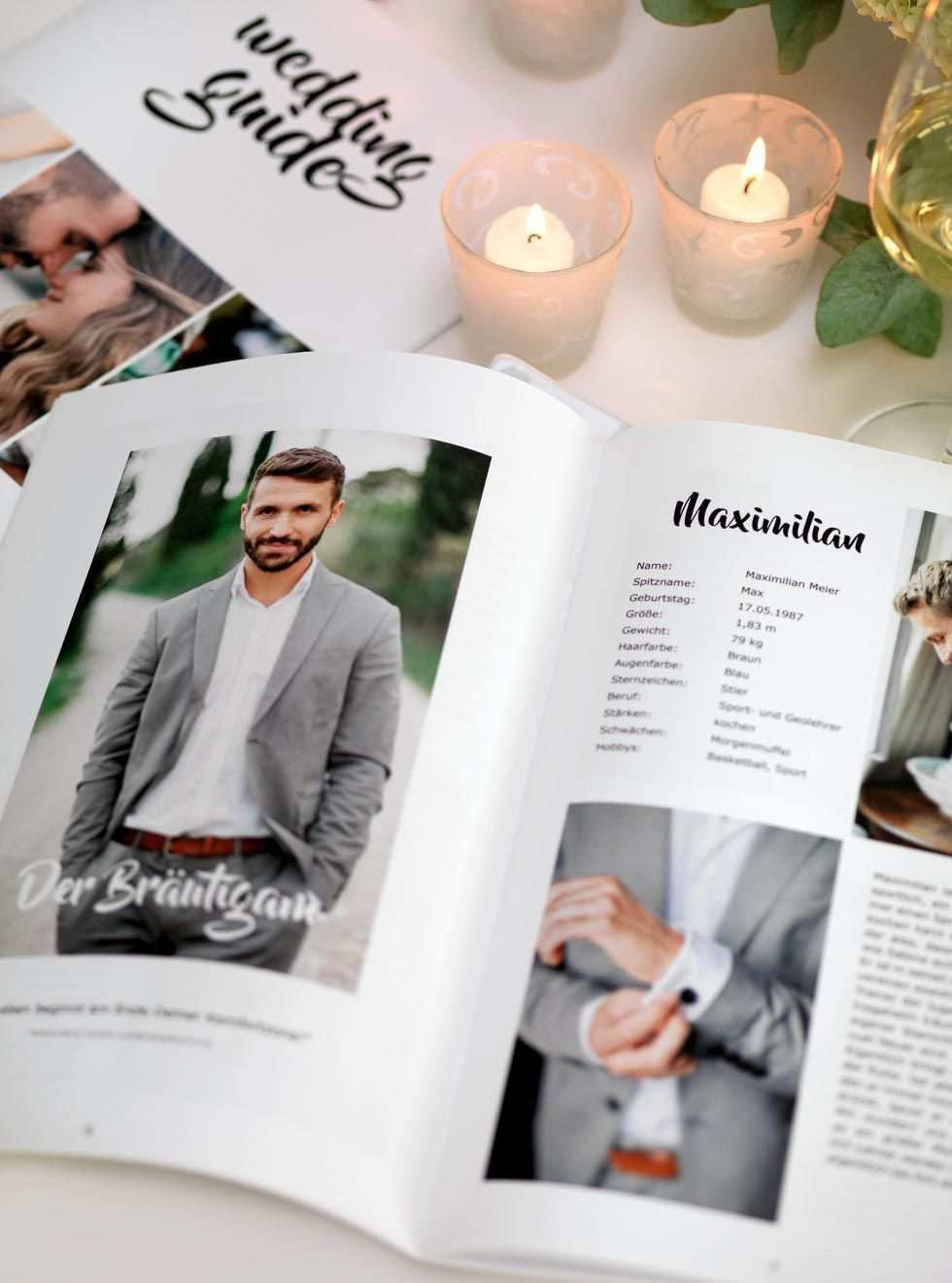 Hochzeitszeitung Vorlage Professionelles Magazin In Word Gestalten Hochzeit Broschure Hochzeitszeitung Hochzeit