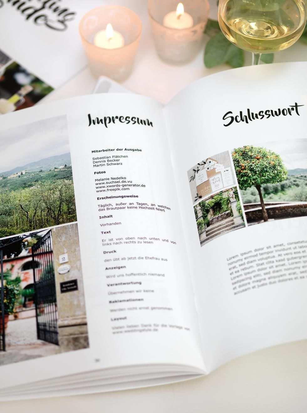 Hochzeitszeitung Vorlage Professionelles Magazin In Word Gestalten Hochzeitszeitung Hochzeitszeitung Ideen Hochzeit