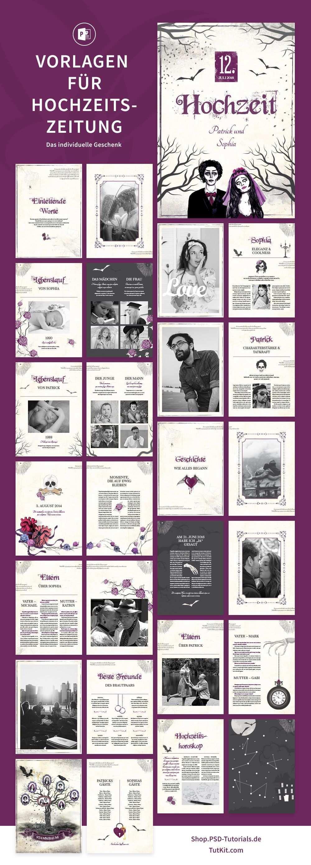 Hochzeitszeitung Vorlagen Fur Powerpoint Indesign Hochzeitszeitung Hochzeitseinladungen Selbst Gestalten Hochzeitsfotoalbum