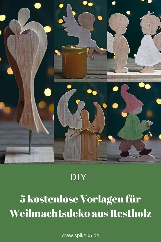 Diy 5 Vorlagen Fur Weihnachtsdeko Aus Restholz Zum Selber Basteln Spike05de Holz Basteln Weihnachten Weihnachtsdeko Aus Holz Basteln Laubsage Vorlagen Weihnachten
