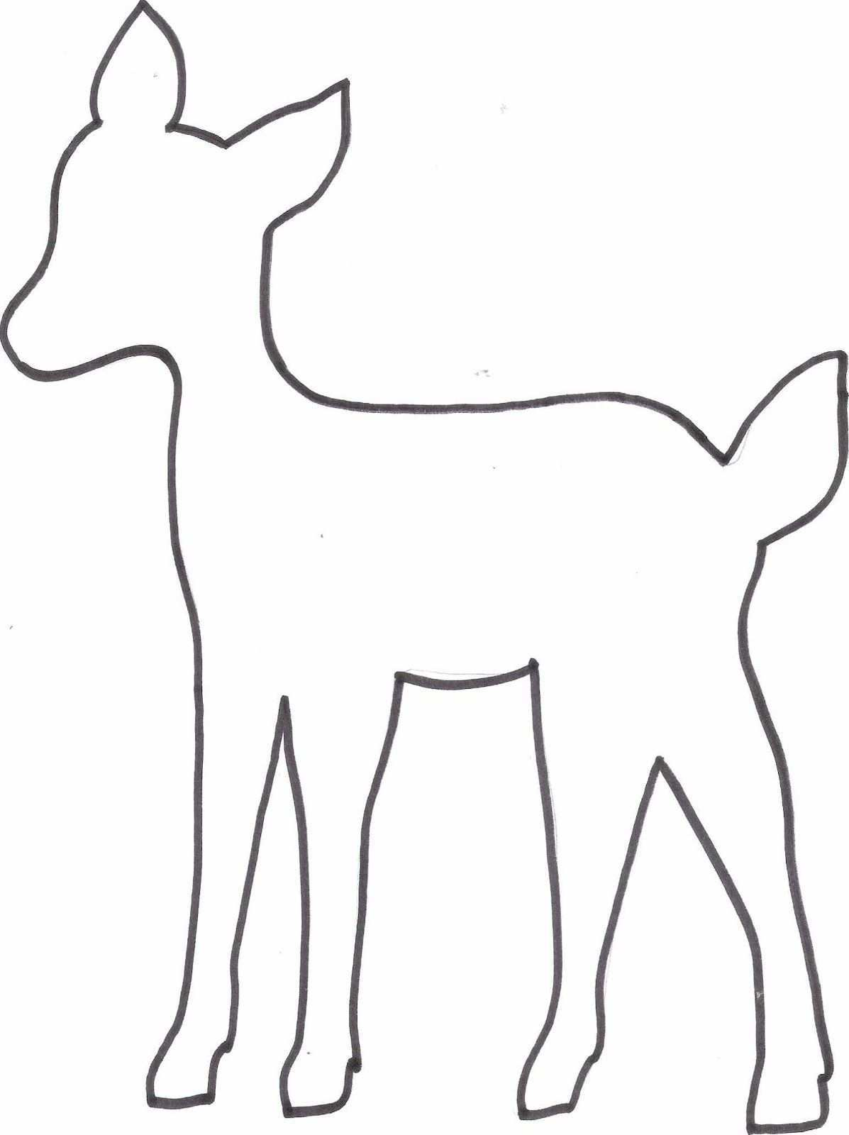 Diy Reh Kissen Freebie Vorlage Tiervorlagen Schablonen Schablonen Vorlagen