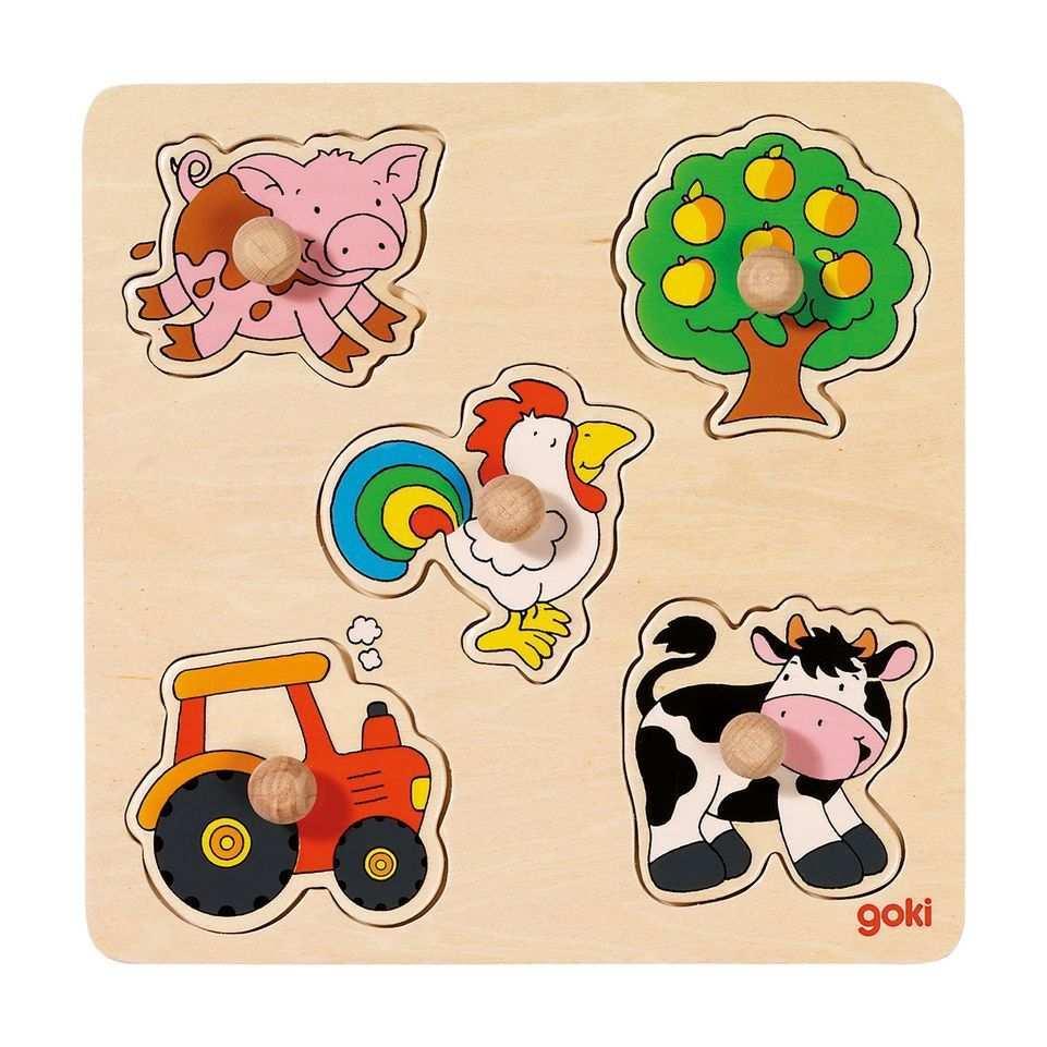 Steckpuzzle Auf Dem Land Holzpuzzle Puzzle Spielzeug
