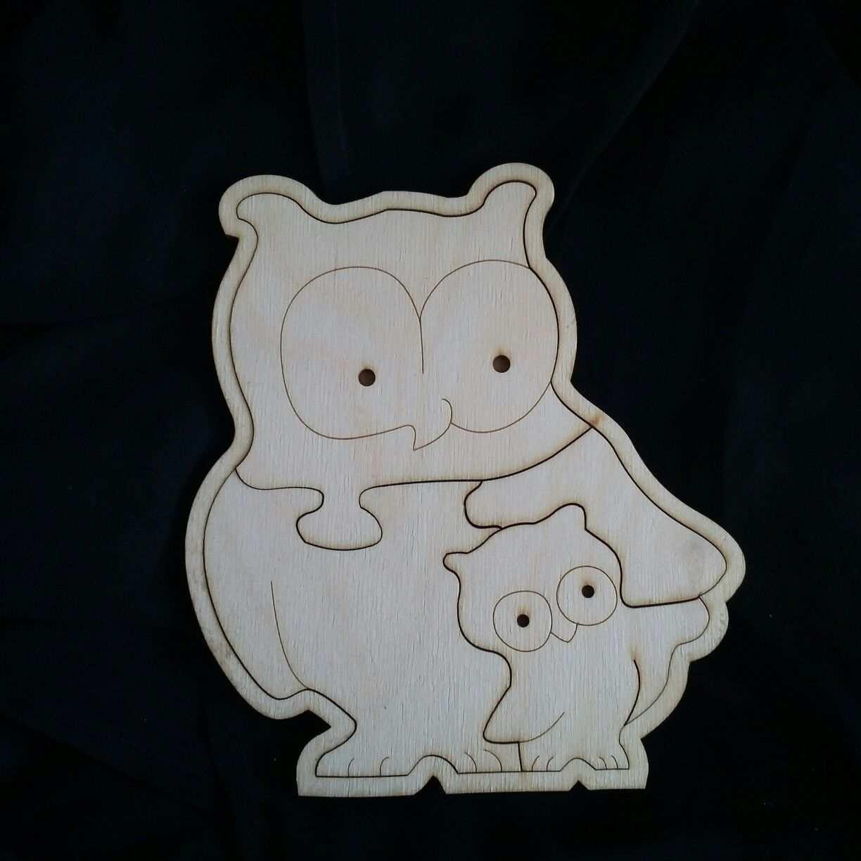Maple Wood Owl Puzzle Felt Christmas Ornaments Wooden Puzzles Wood Owls