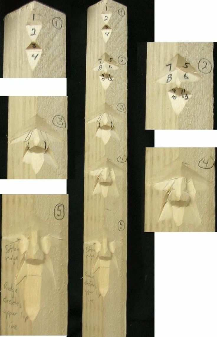 Wood Carving Study Stick Carving Of 4 Sticks You Will Create Click For Larger Image Holz Schnitzen Schnitzen Holzschnitzkunst