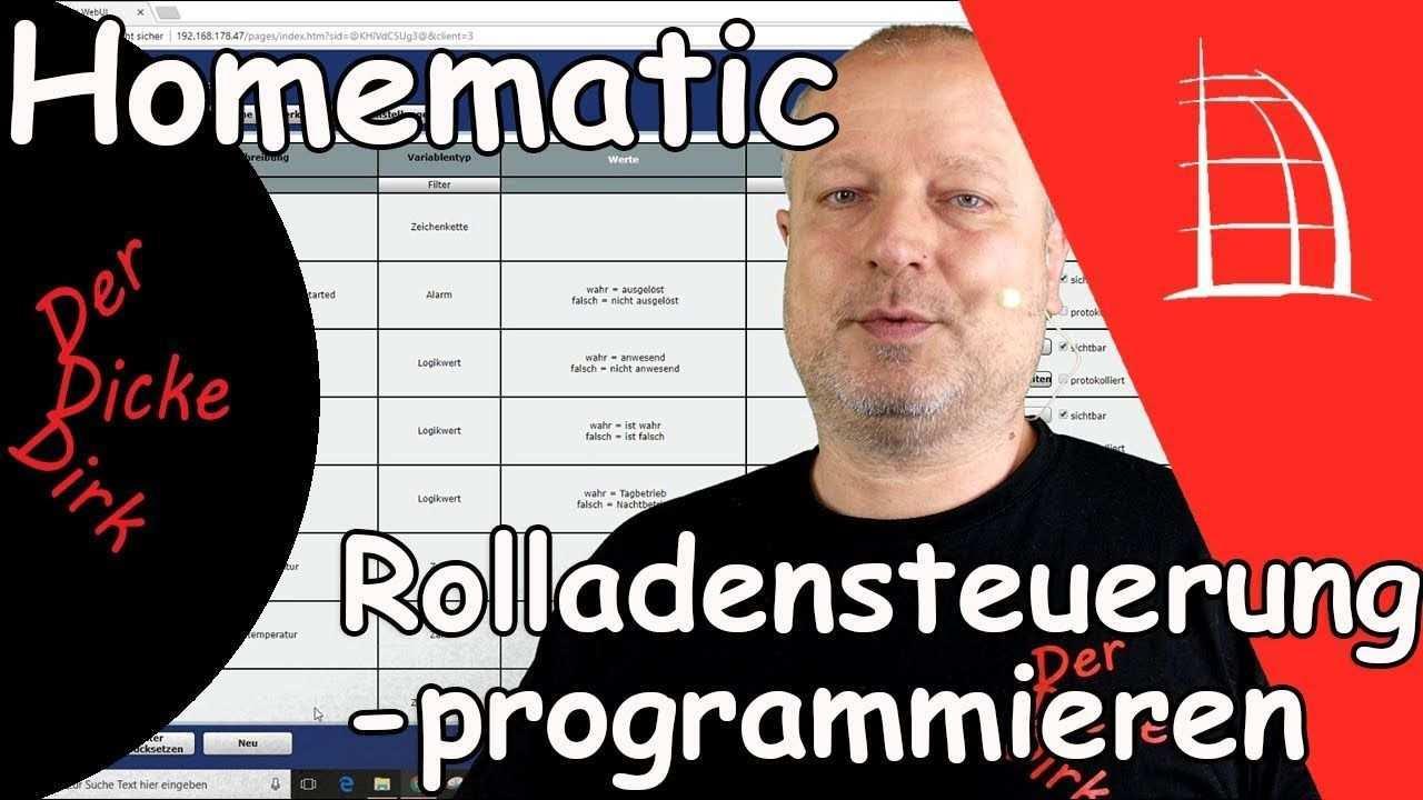 Programmierung Einer Rolladen Steuerung Homematic Lernen Grundlage Lernen Programmieren Tipps Und Tricks