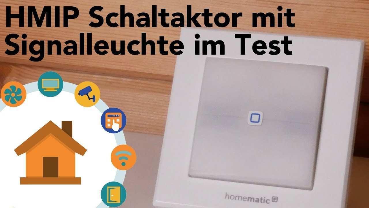 Homematic Ip Schaltaktor Hmip Bsl Im Test Verdrahtet Info 4k Youtube