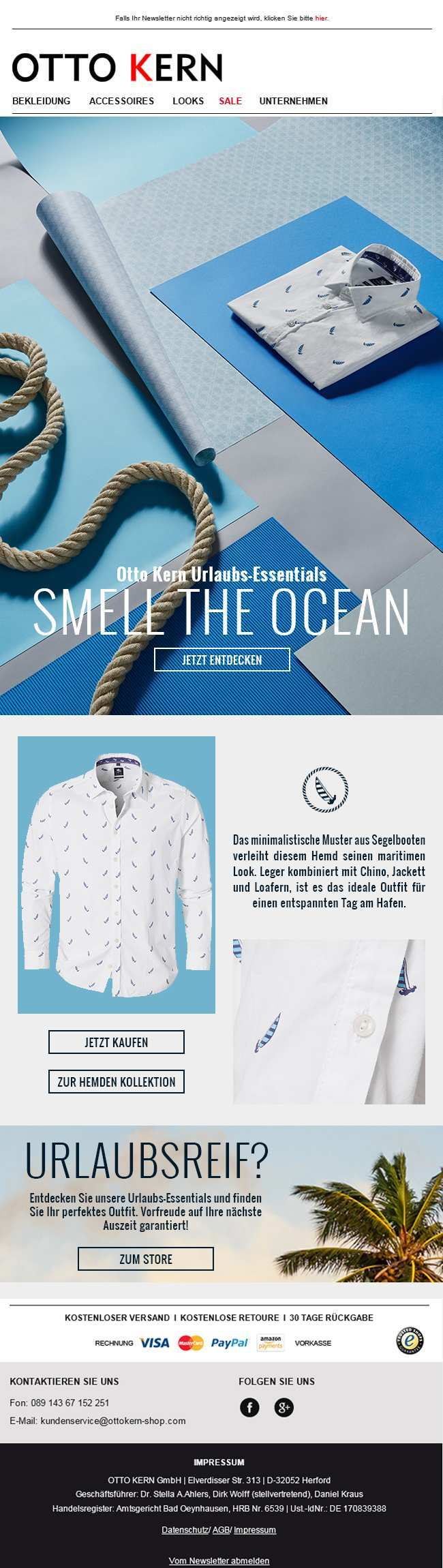 Taste The Sun Fashion For Men Otto Kern Presents The New Casual Shirts Collection For Spring Summer 2016 Newsletter Premium Fashion Minimal Prints My Design