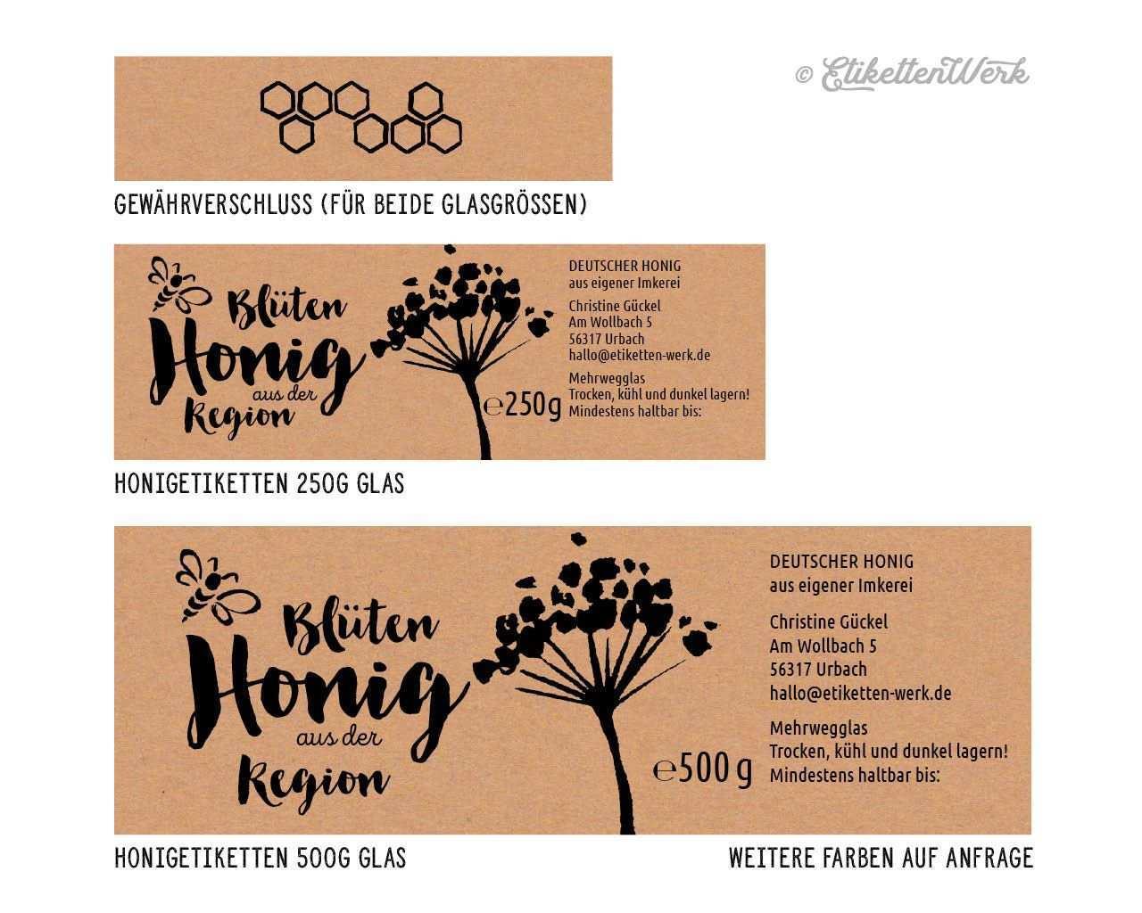Honigetiketten 1 10 Honigetiketten So Individuell Wie Ihr Honig Honig Etikette Honig Etiketten