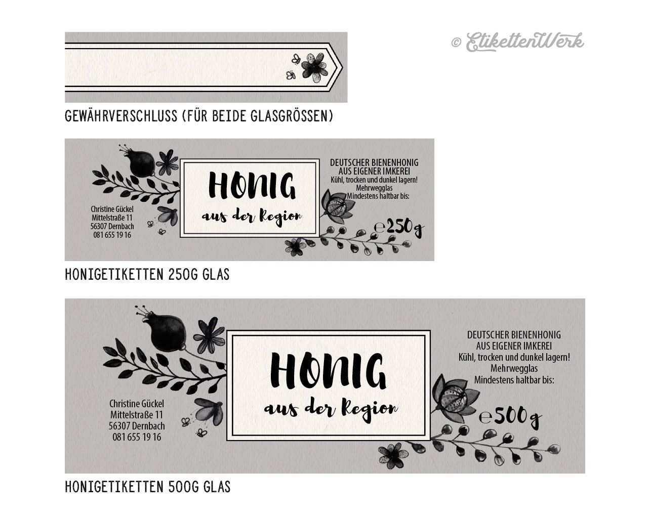 Pin Von Etikettenwerk Auf Bees In 2020 Honig Etikette Etiketten Honig