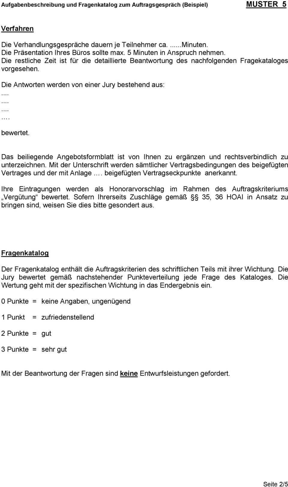 Aufgabenbeschreibung Und Fragenkatalog Zum Auftragsgesprach Beispiel Muster 5 Pdf Kostenfreier Download