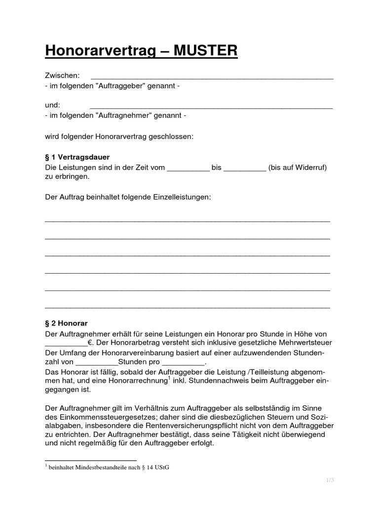 3 Honorarvertrag Muster V1