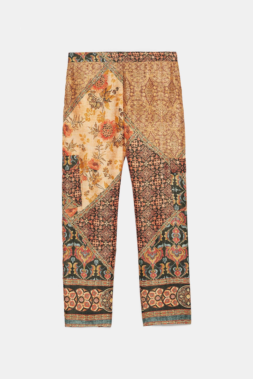 Bild 8 Von Gemusterte Hose Mit Taschen Von Zara Printed Pants Pants Zara