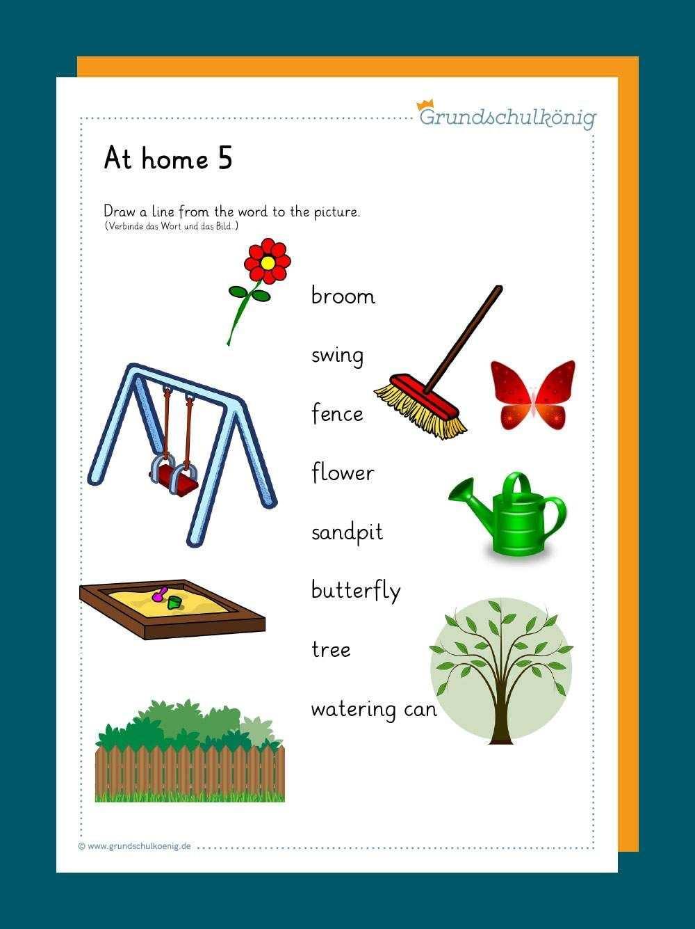 At Home Zu Hause In 2020 Grundschulkonig Kostenlose Arbeitsblatter Grundschule