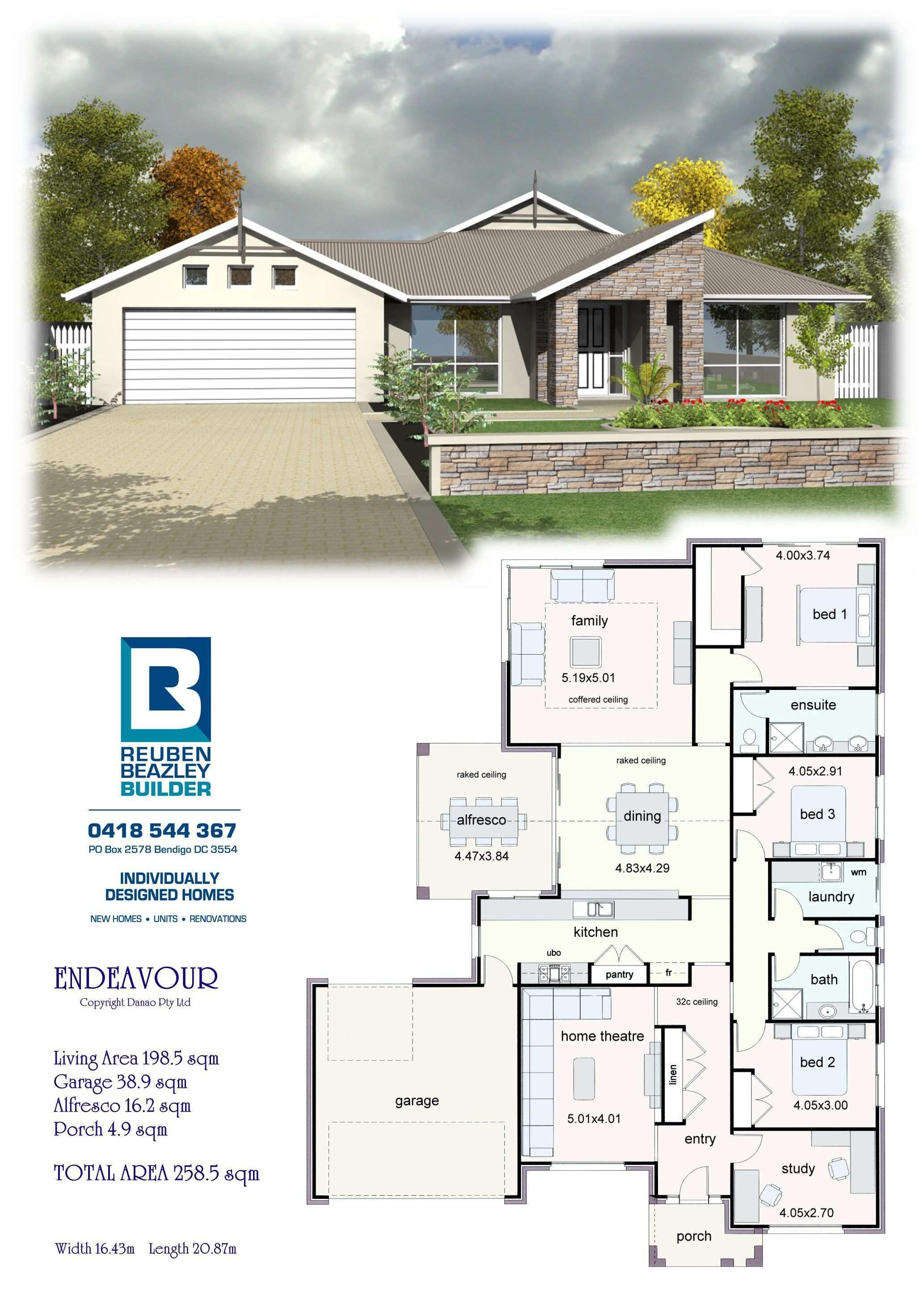 The Endeavour New House Plans Dream House Plans House Blueprints
