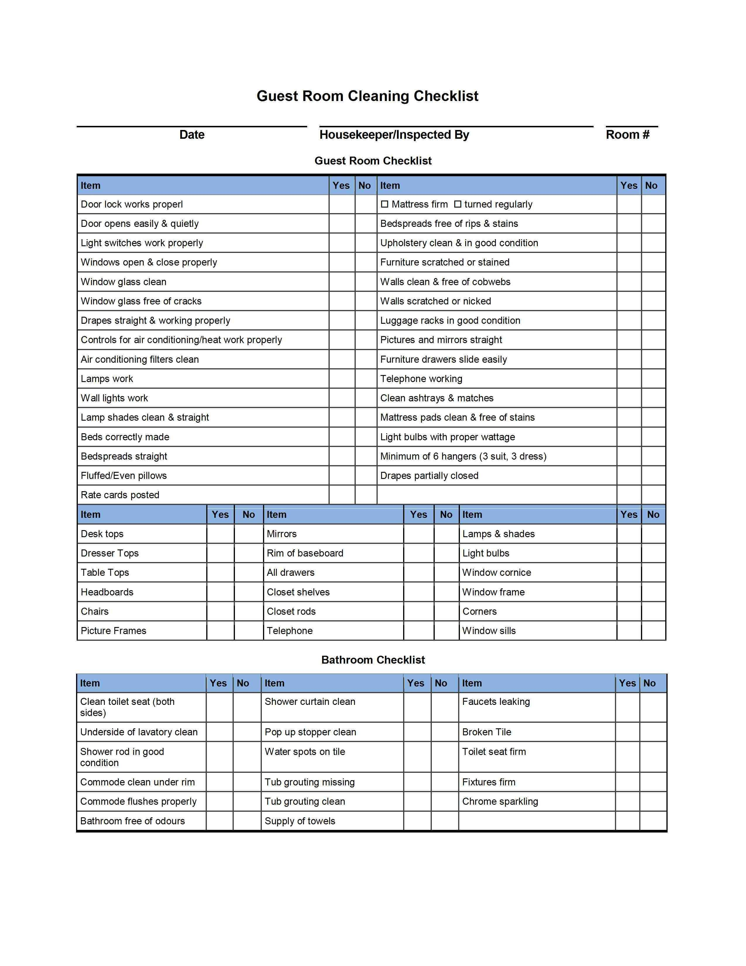 Hotel Room Cleaning Checklist Templates External House Cleaning Brisbane Clean Room Checklist Housekeeper Checklist Cleaning Checklist Template