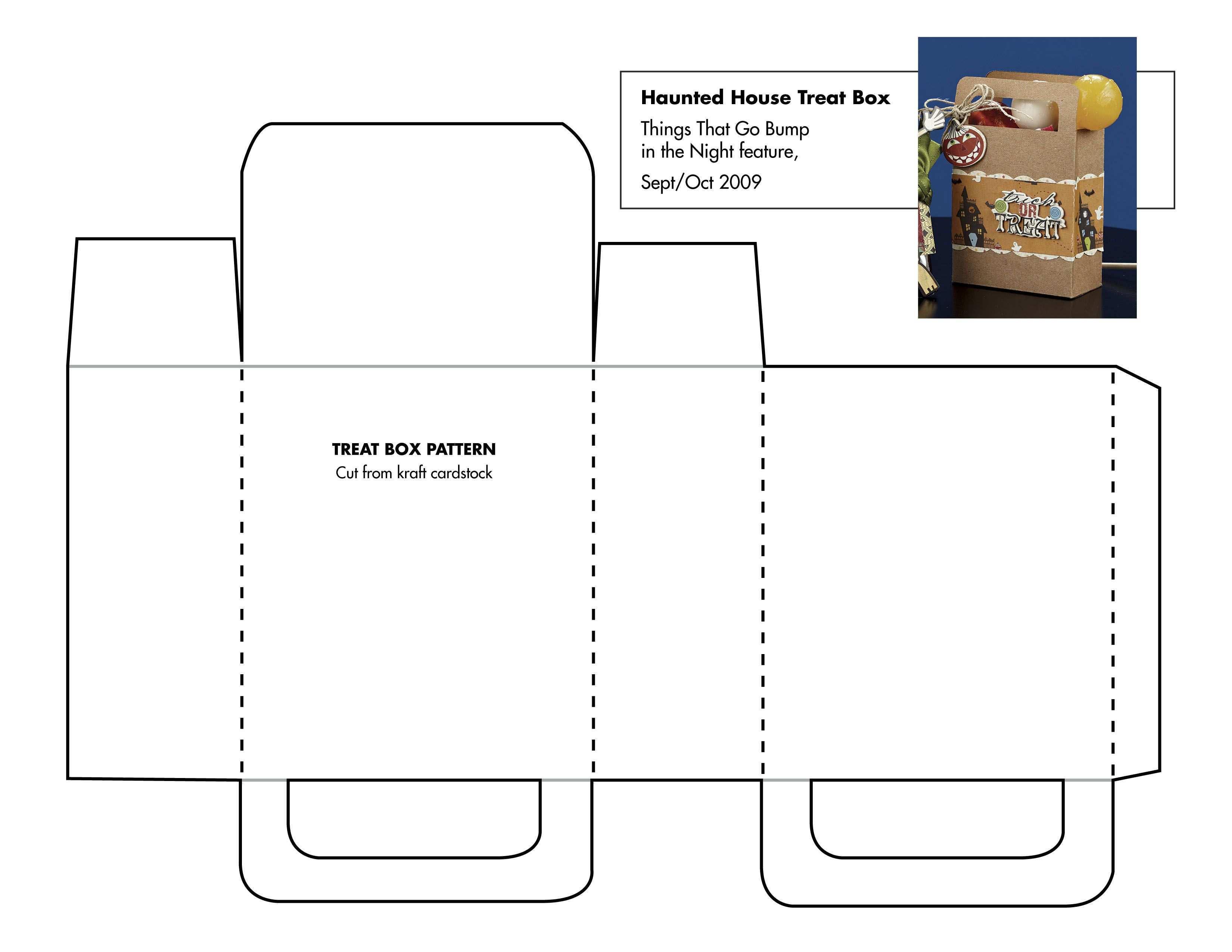 Paper House Pattern Catalog Of Patterns Box Template Printable Box Template Paper House Template