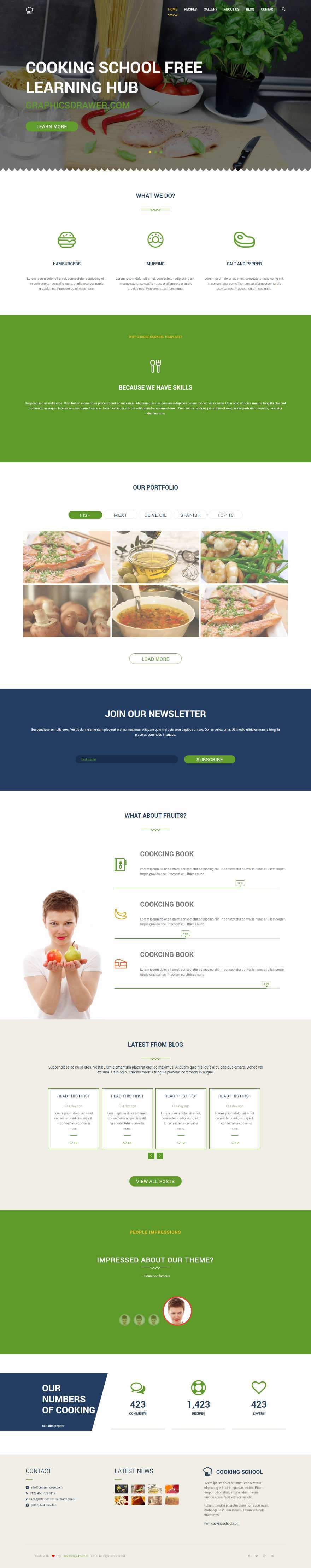 We Have Created Free Html Cooking School Website You Can Download The Html For Your Cooking Learning School Templ School Template Free Learning School Website