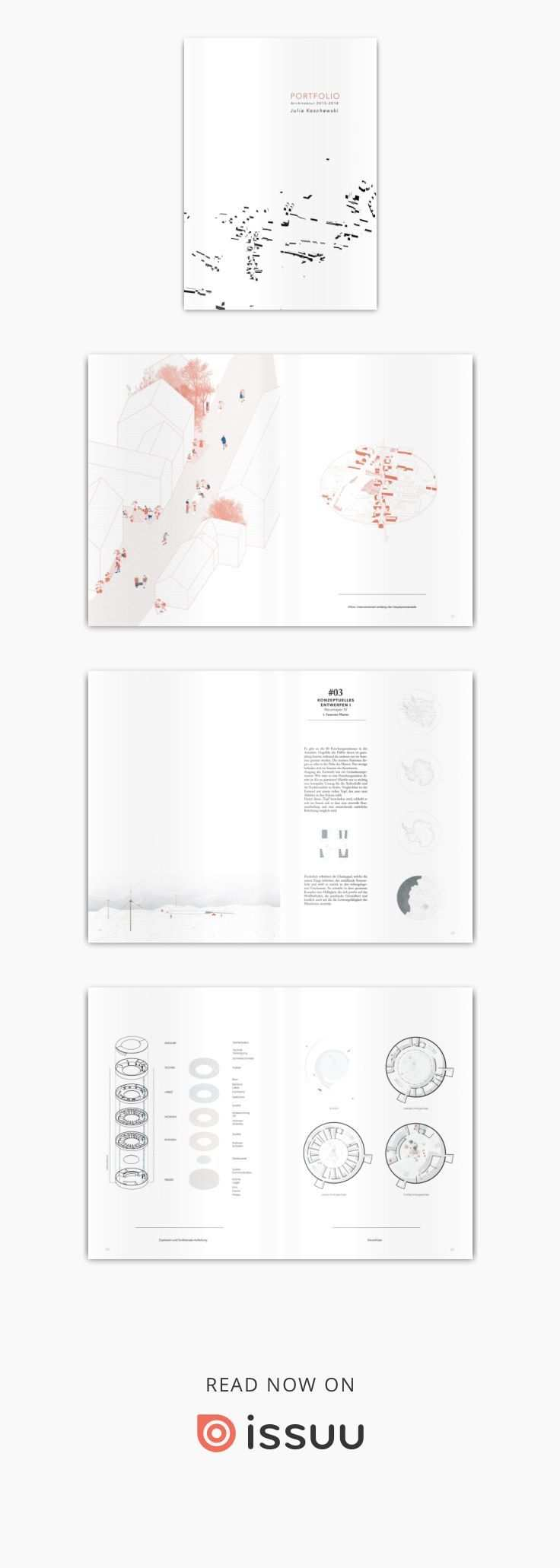 Architecture Portfolio 2019 By Julia Koschewski Architektur Portfolio Architektur Visualisierung Layout Architecture