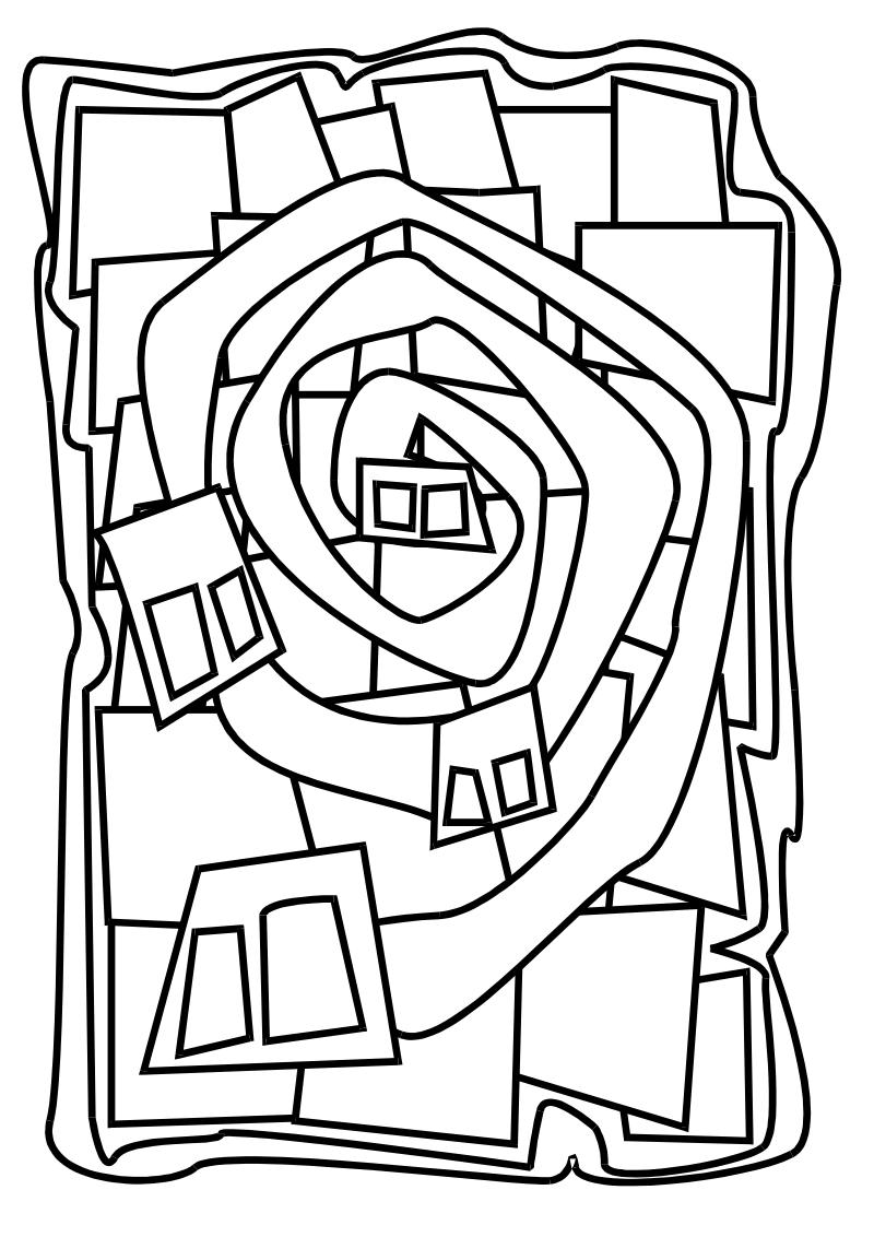 Coloriages De Peintures Celebres Hundertwasser Kunstproduktion Kunst Arbeitsblatt