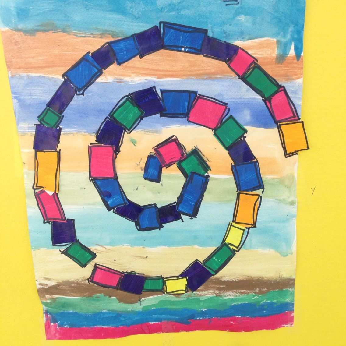 Spirale Kunstprojekte Kinder Kunst