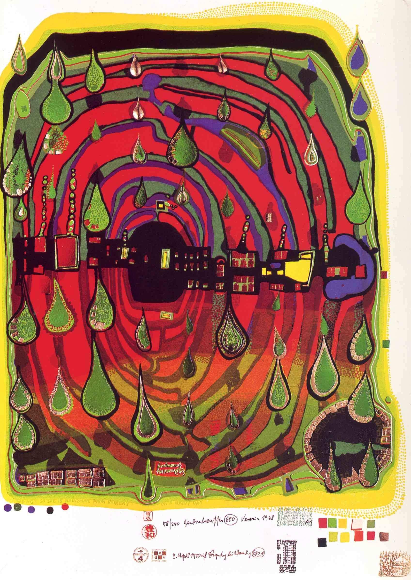 Hundertwasser Paintings Hundertwasser Painting 13 Jpg Beaux Arts Peindre Un Tableau Art Colore