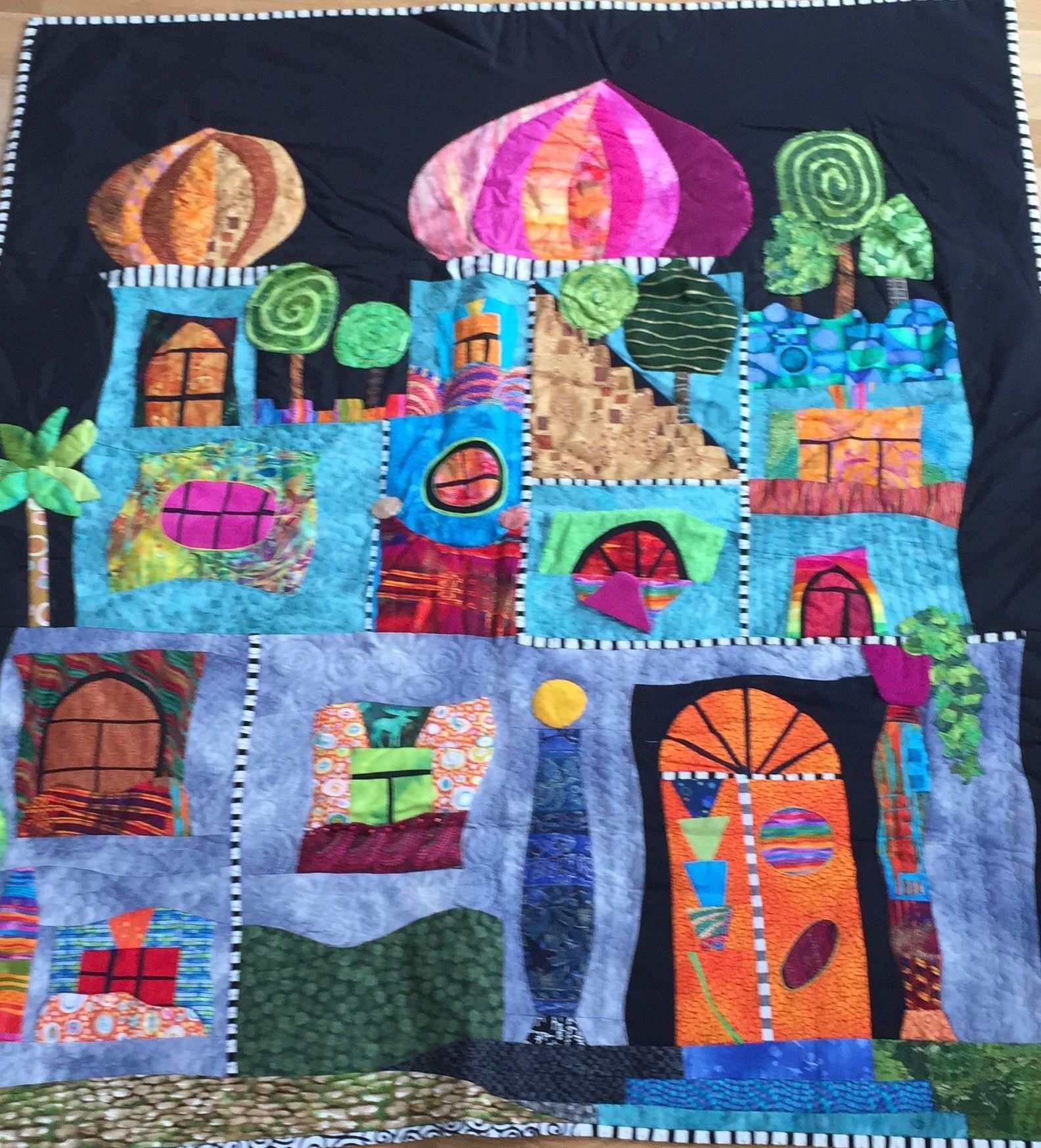 Hundertwasser Quilt Hundertwasser Kunsttagebuch Kunst