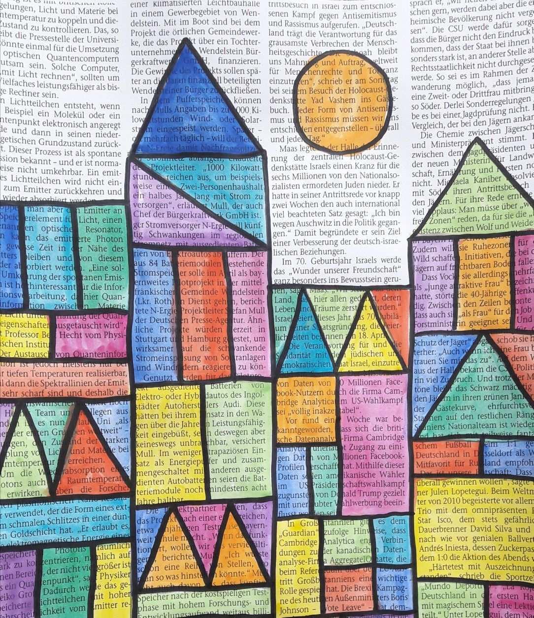 Burg Und Sonne Nach Paul Klee Bildbetrachtung In Der Grundschule Kunststunden Kunst Grundschule Paul Klee Bilder