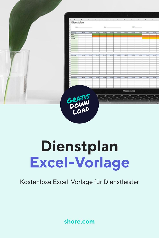 Kostenlose Dienstplan Excel Vorlage Excel Vorlage Dienstplan Vorlagen
