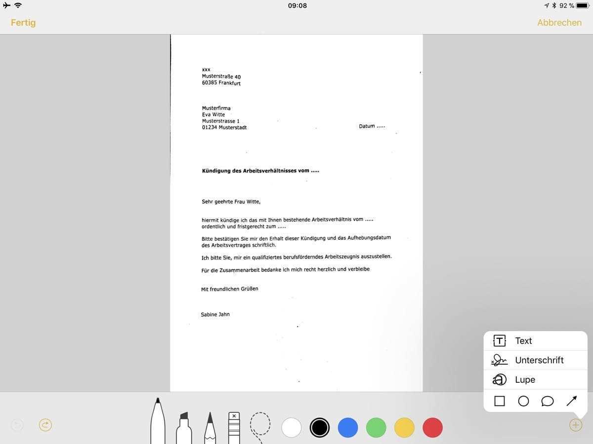Ios 11 Dokumente Mit Notiz App Scannen Und Unterschreiben