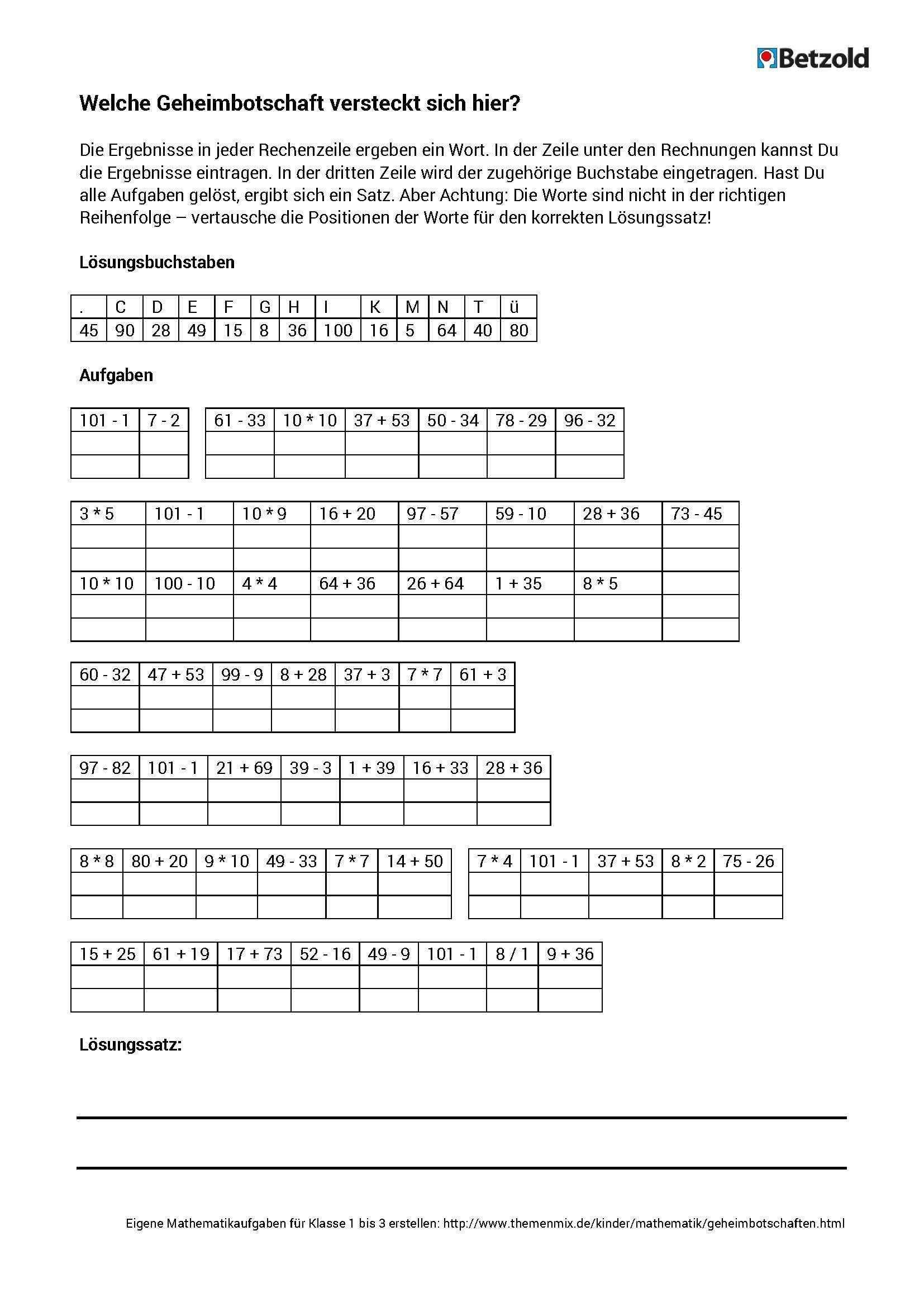 Arbeitsblatt Schnell Und Einfach Geheimbotschaften Erstellen Hier Haben Wir Fur Euch Ein Beispiel Mit Auf Matheaufgaben Mathematikunterricht Unterricht Ideen