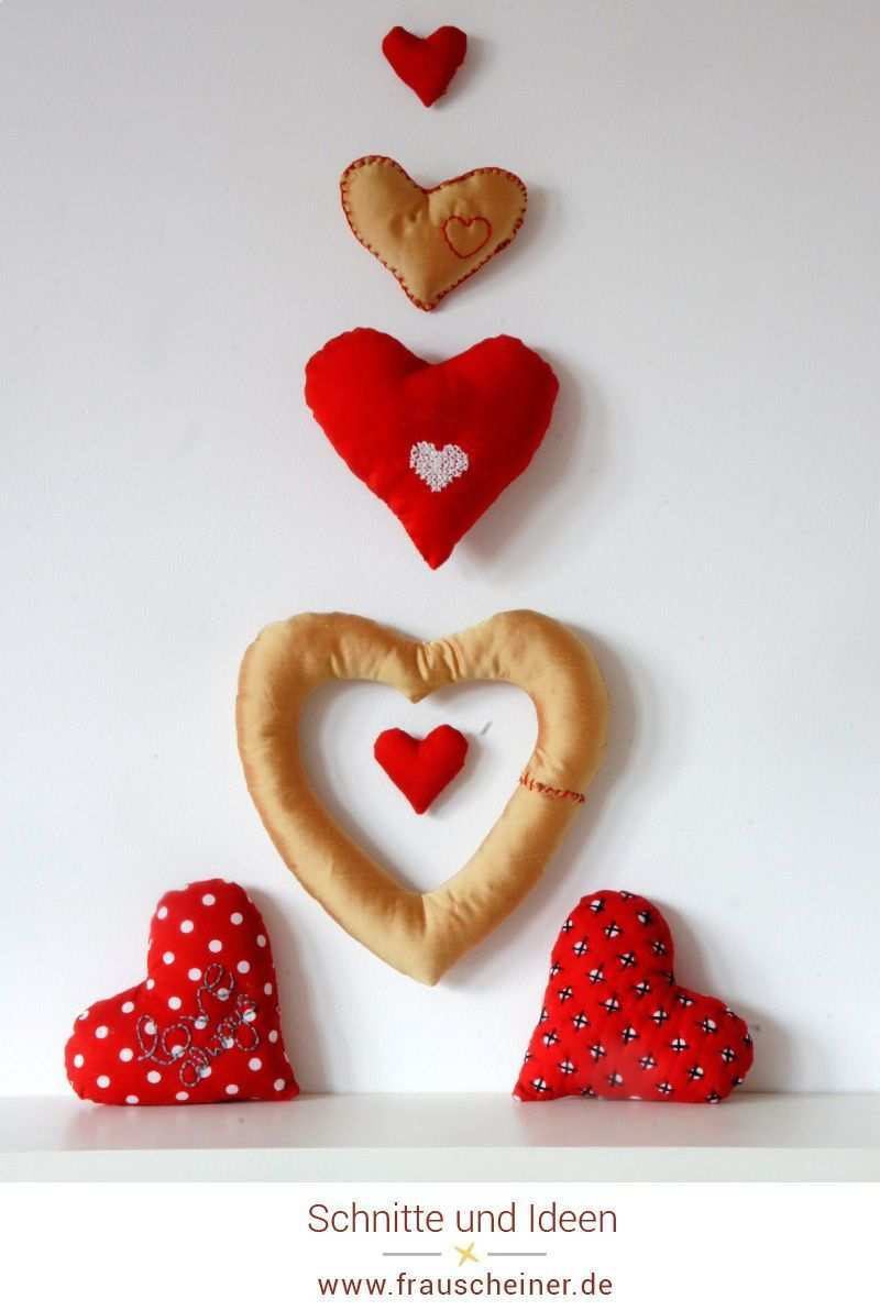 Herz Nahen Mit 3 Handstickstichen Verzieren Handstickstiche Herz Basteln Verzieren