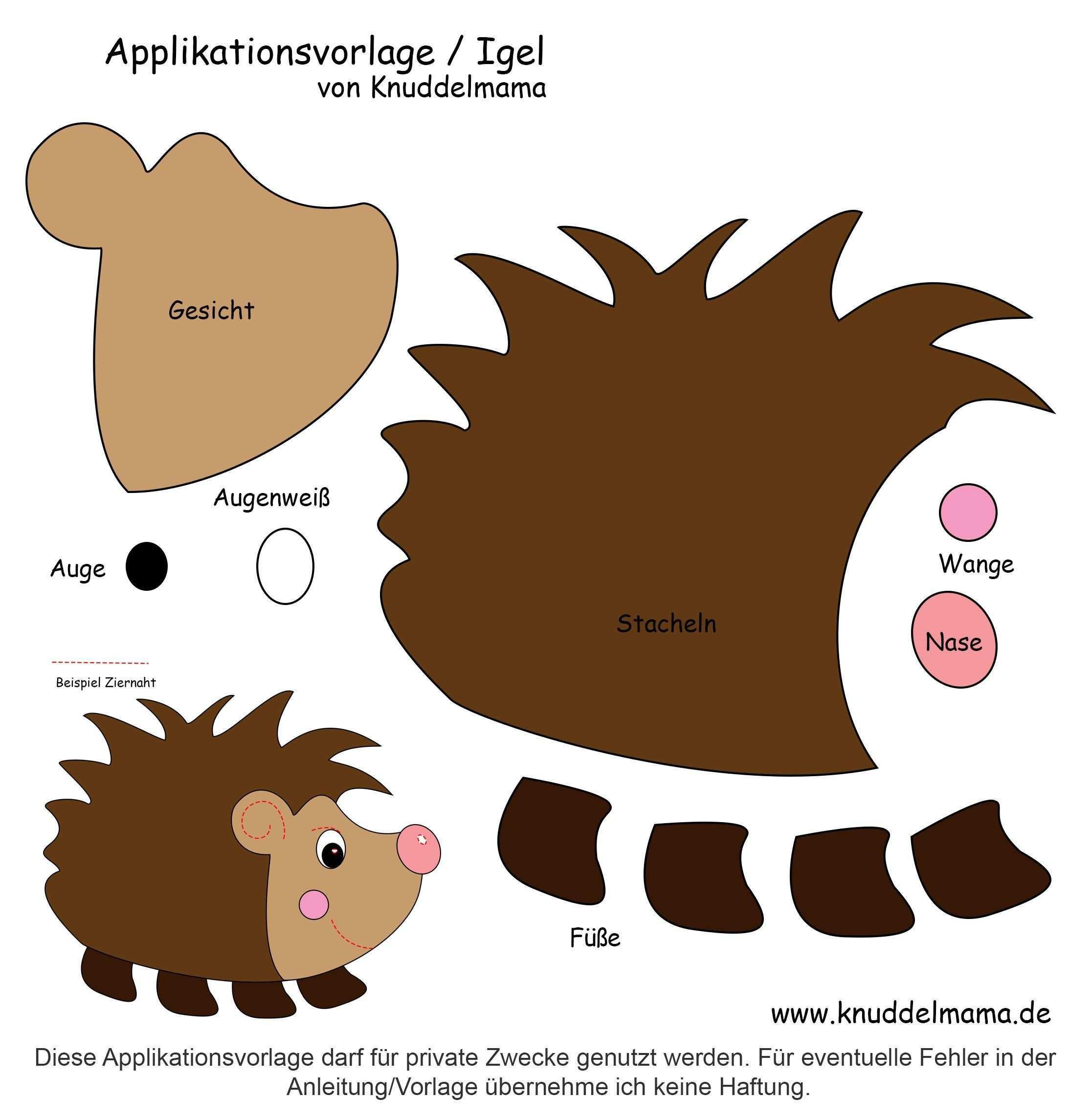 Igelvorlage Jpg 2 231 2 290 Pixel Felt Animal Patterns Stuffed Animal Patterns Felt Toys