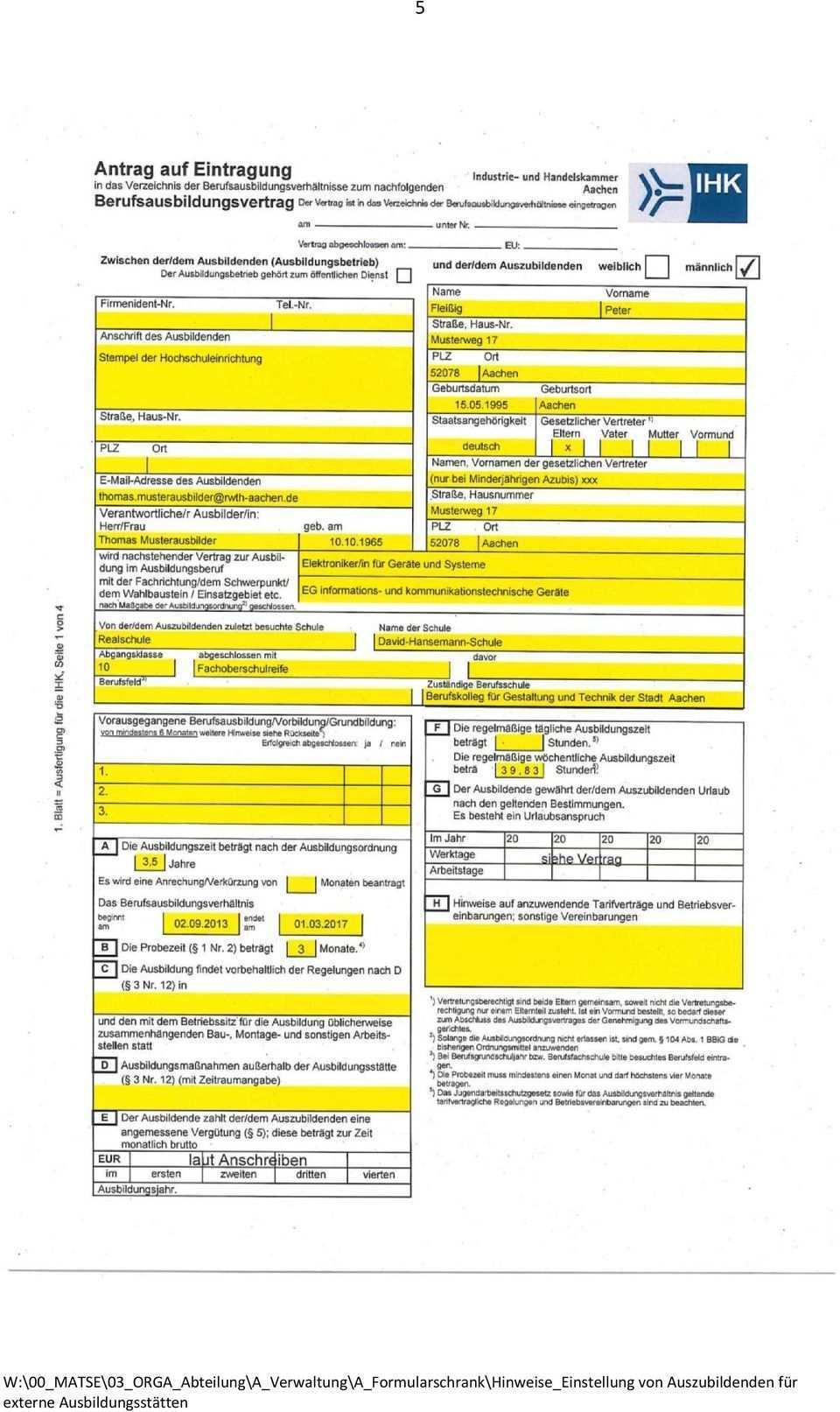 Hinweise Einstellung Von Matse Auszubildenden Fur Rwth Externe Ausbildungsstatten Stand 06 14 Pdf Kostenfreier Download