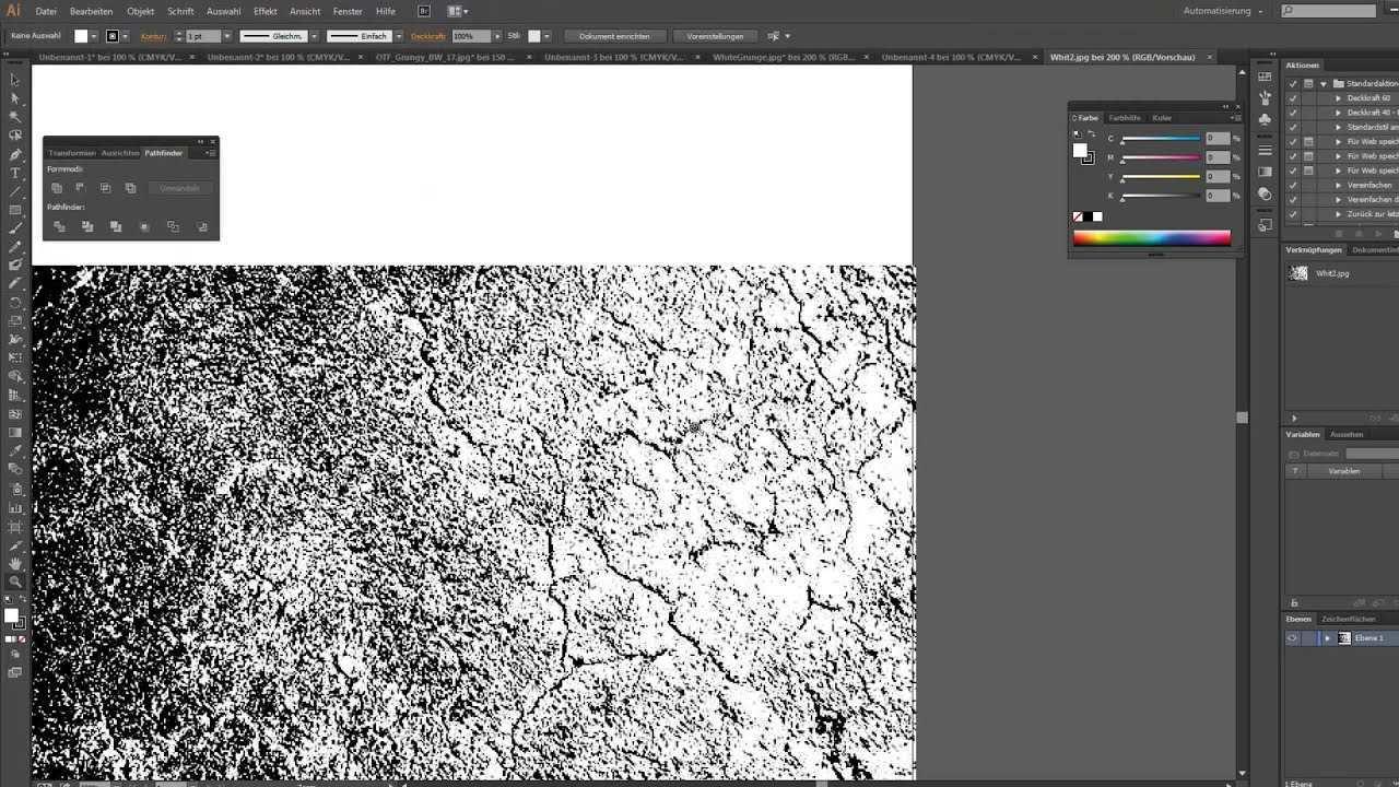 Tutorial Grunge Muster Pattern In Illustrator Vektor Erstellen Youtube