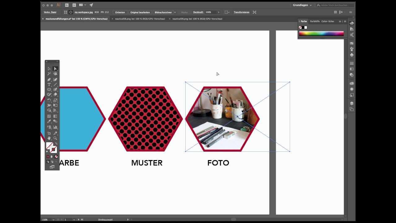 Adobe Illustrator Fullungen Innerhalb Einer Form Bewegen Youtube