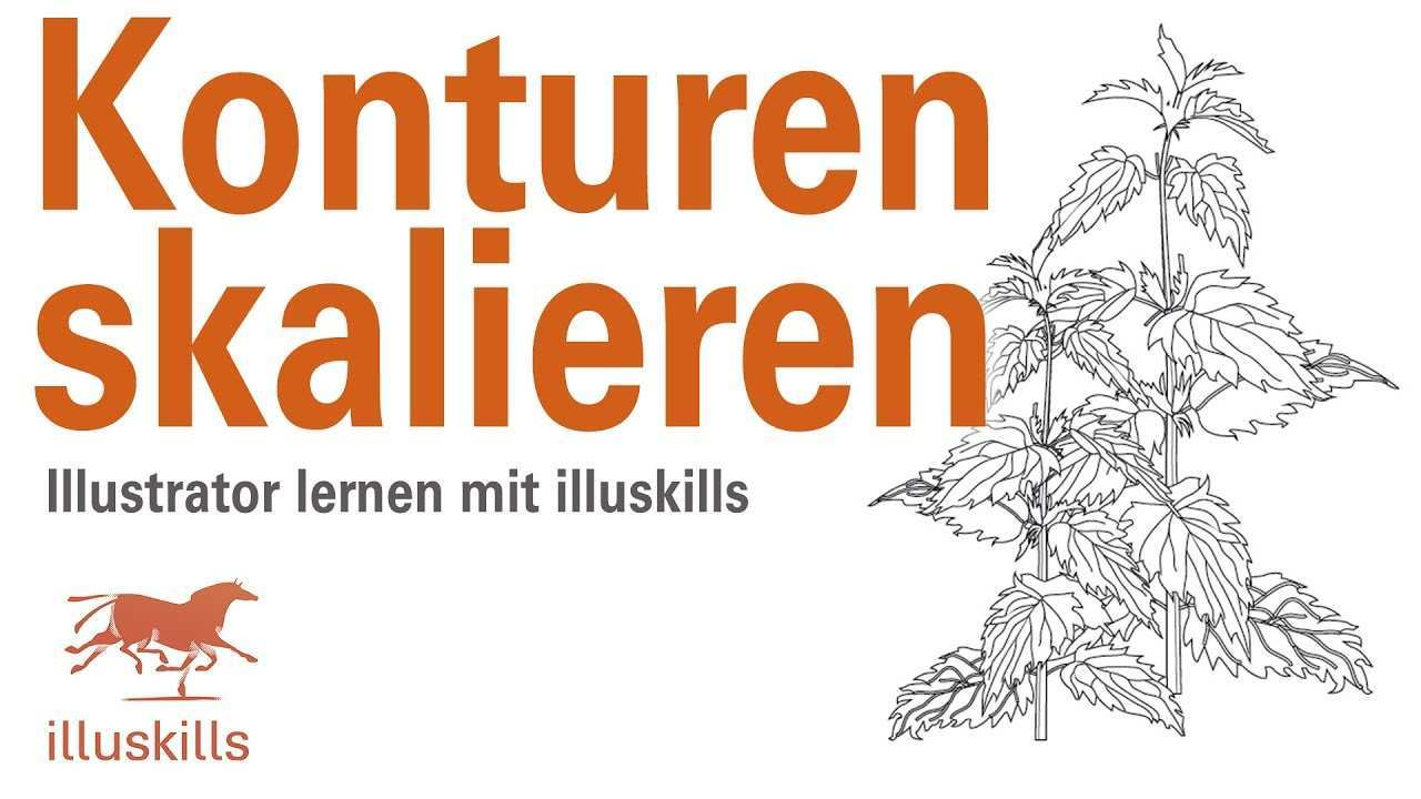 Illustrator Stichstarke Skalieren Youtube
