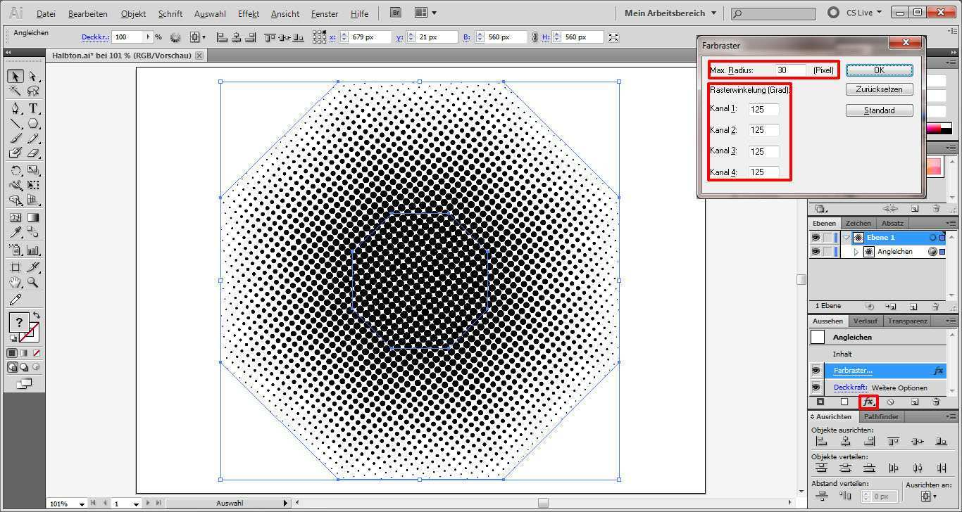 Quicktipp Vektor Halbtone In Illustrator Saxoprint Blog