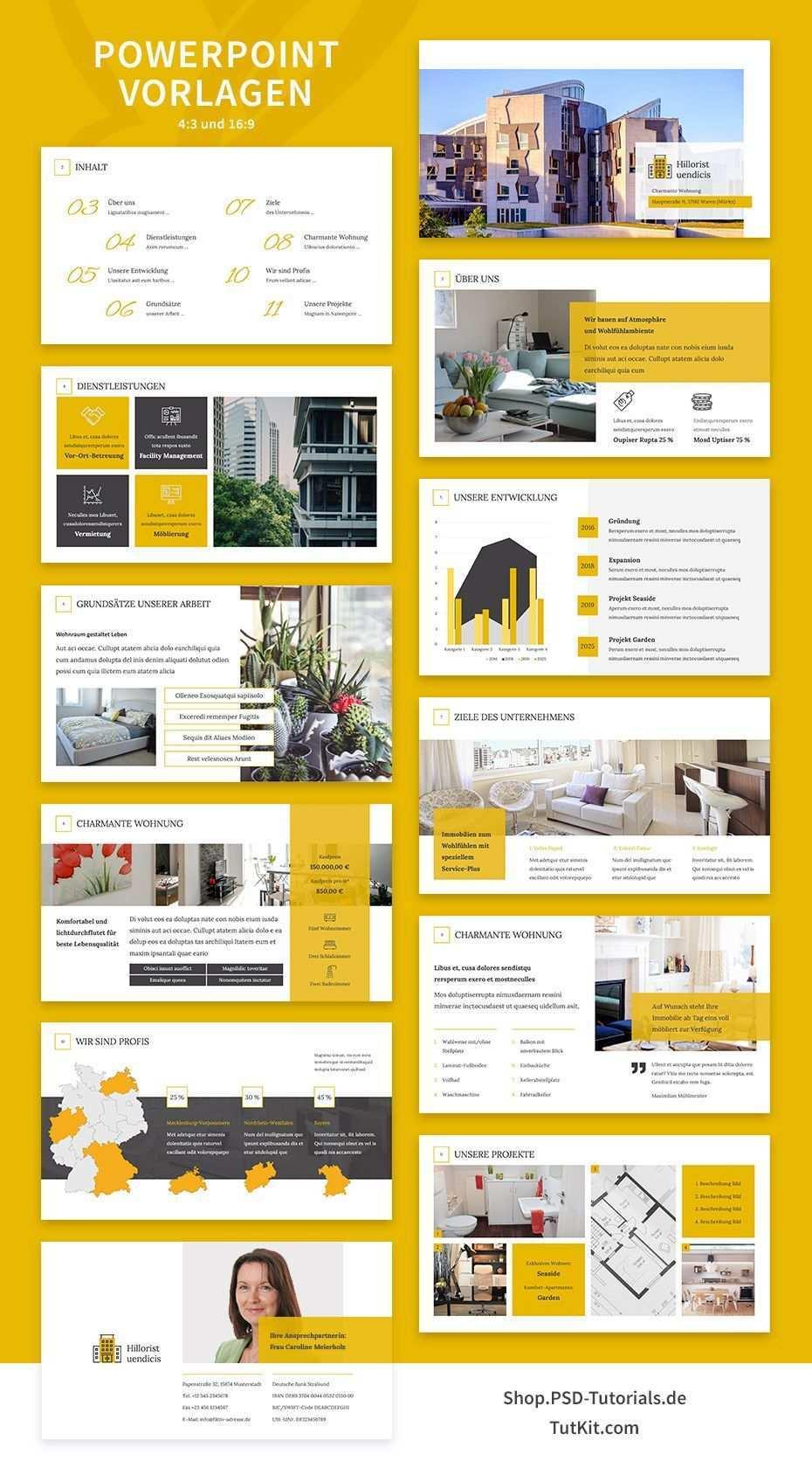 Immobilien Marketing Hochwertige Corporate Design Vorlagen Powerpoint Die Prasentation Wurde Speziell Fur D Corporate Design Designvorlagen Expose Immobilien
