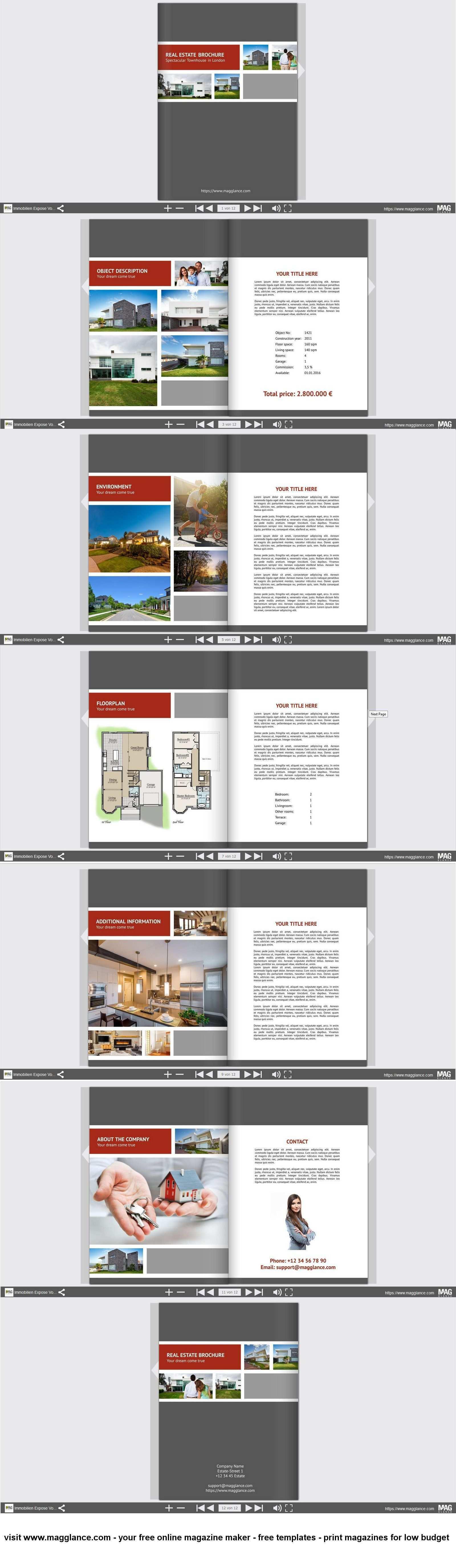 Immobilien Expose Kostenlos Online Erstellen Und Gunstig Drucken Unter Https De Magglance Com Immobilien Expose Vorlage Im Expose Immobilien Immobilien Pose