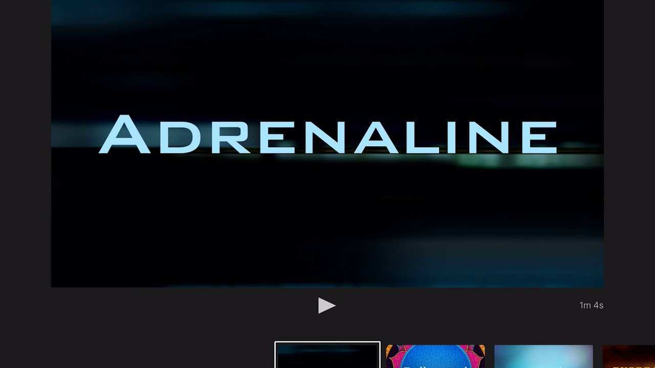 Imovie Trailer Template Adrenaline Youtube
