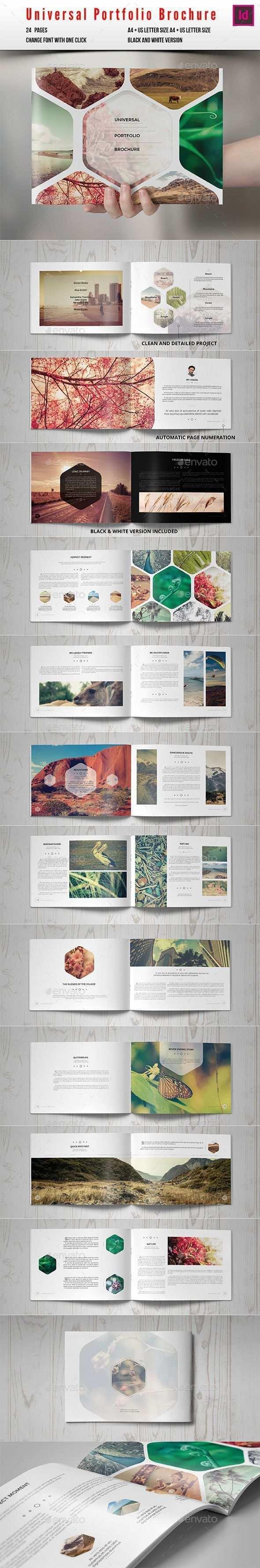 Universal Portfolio Broschure Katalog Indesign Vorlage Nur Hier Erhalt Broschure Erhalt Hier Indesignvorlage Katalo Portfolio Design Booklet Design Catalog Design