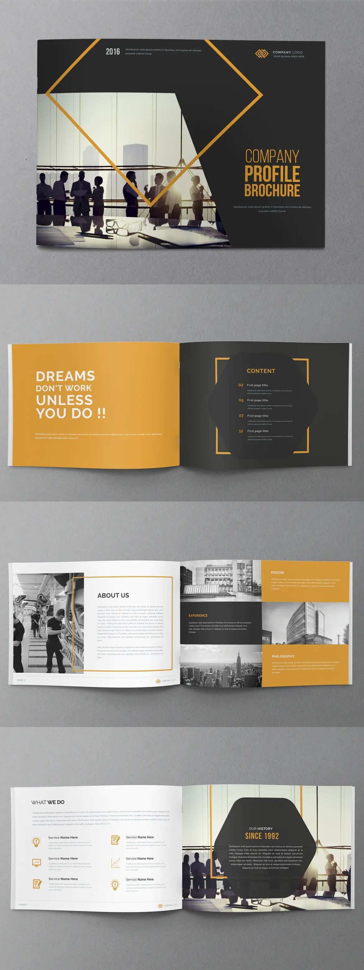 Company Profile Brochure Template Indesign Indd Desain Grafis Anak