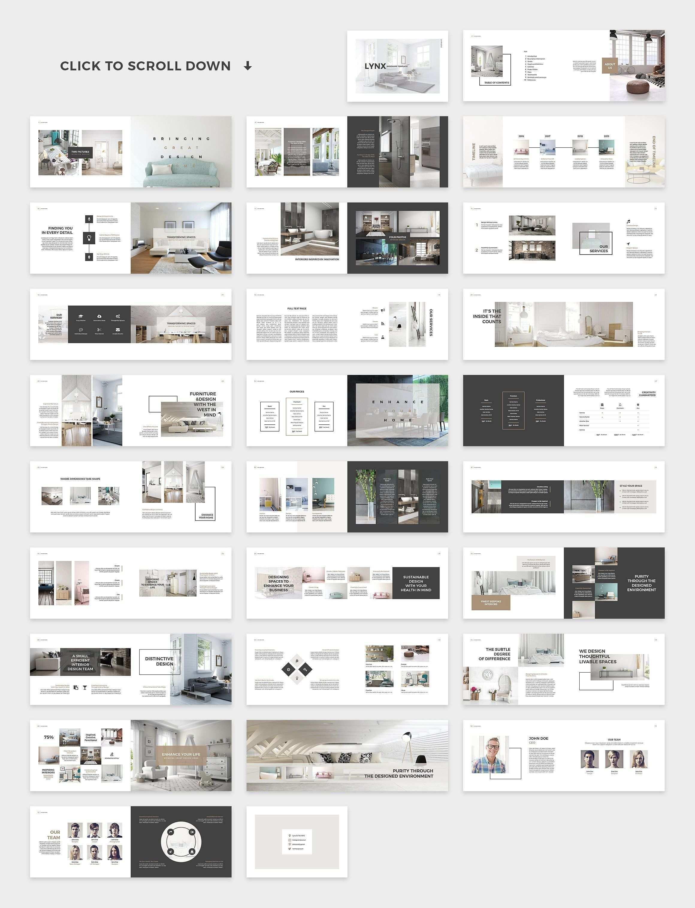 Lynx Brochure Template In 2020 Interior Design Template Architecture Portfolio Layout Catalog Design Layout