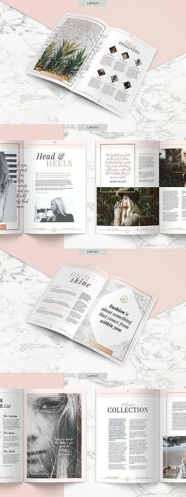 Rose Gold Magazine Indd Psd Gold Graphism Indd Magazine Psd Rose Broschurendesign Zeitschriften Layouts Buch Und Zeitschriftendesign