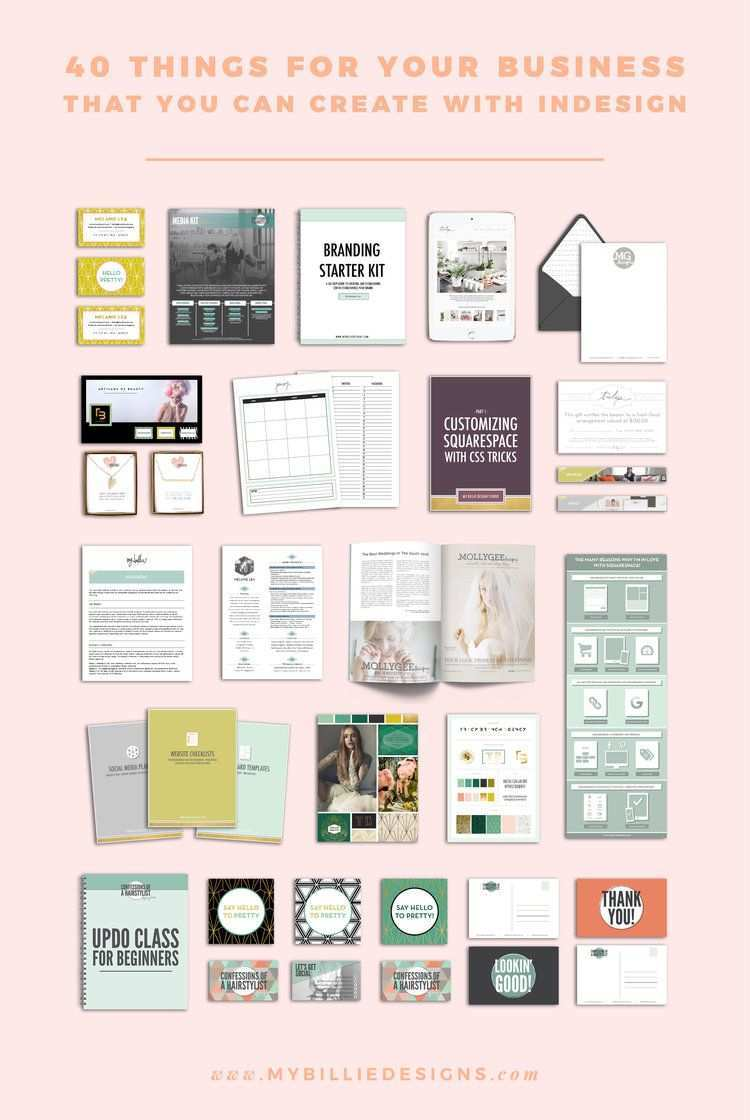 40 Things You Can Create For Your Business With Adobe Indesign Indesign Create Business Cards Indesign Inspiration