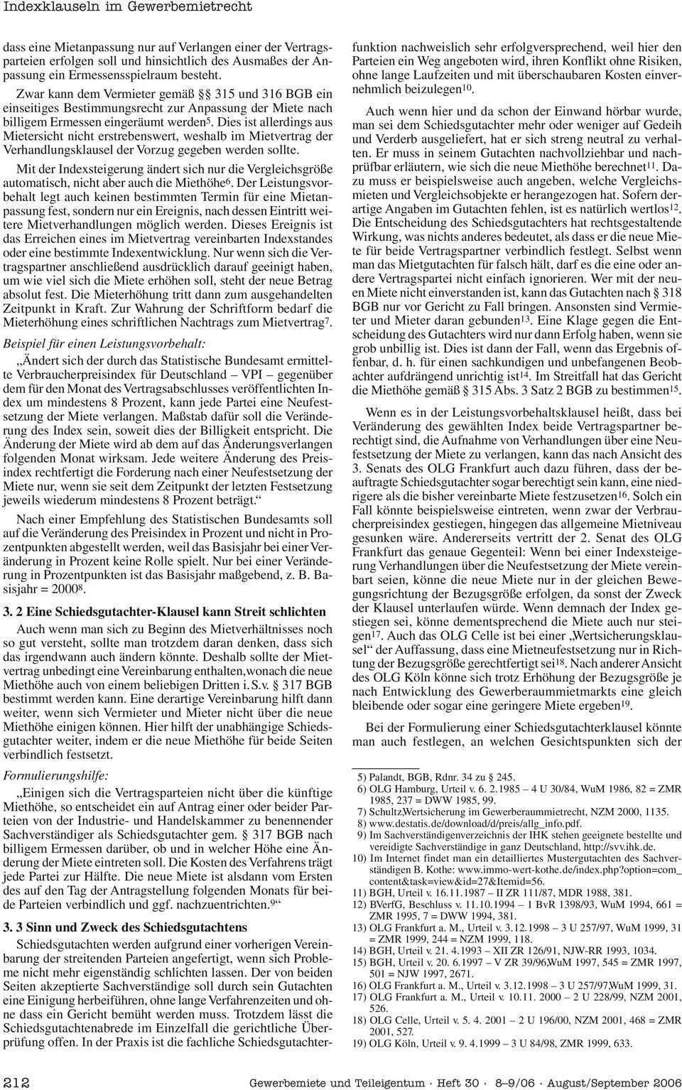 U Nd 8 9 06 Beitrage E Ruff Indexklauseln Im Gewerbemietrecht Wirtschaft Und Verbande Kfw Unternehmensfinanzierung Gewerbemiete Teileigentum Pdf Free Download